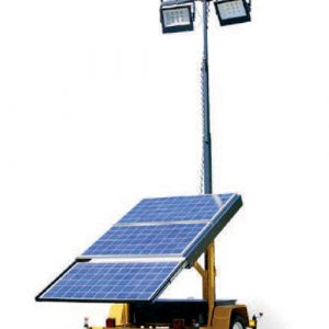 Portable solar powered light post